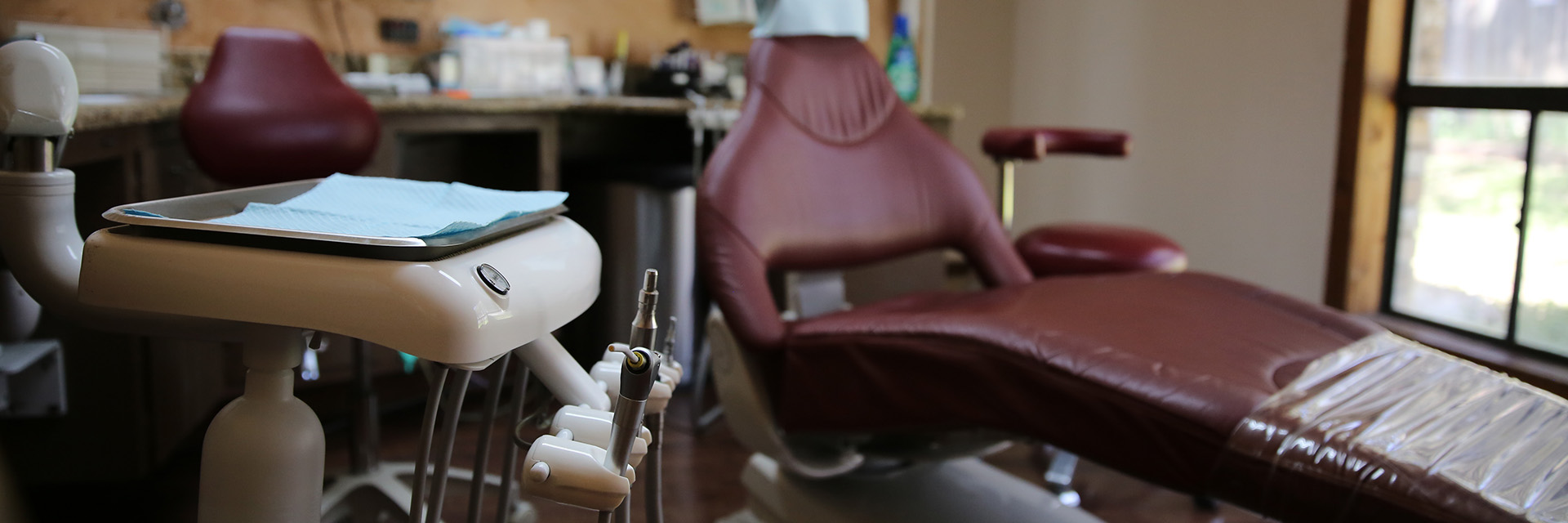 Dental Center of Belton dental tools and chair